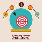 Solutions design — Stock Vector