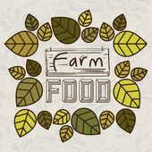 Farm Food design — Stock Vector