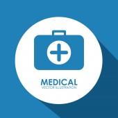 Projekt opieki medycznej — Wektor stockowy