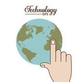 Diseño de la tecnología — Vector de stock