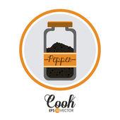 Cook design — Stock Vector