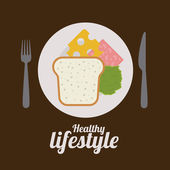 Healthy Lifestyle design — Stock Vector