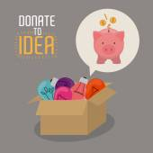 Doações para o projeto ideia — Vetor de Stock