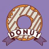 Donut design — Stock Vector