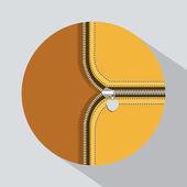 Zipper design — Stock Vector