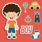 Boy design — Stock Vector