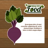 Progettazione di cibo sano — Vettoriale Stock