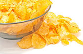 Tasty crispy potato chips  — Foto Stock