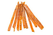 Salty strips of smoked fish — Foto Stock