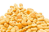 Many tasty peanuts closeup — Stock Photo