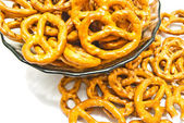 Some salted pretzels closeup — Stock Photo