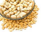 Roasted pistachios and peanuts — Stock Photo