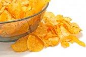 Tasty potato chips  — Stock Photo