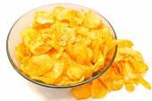Chipsy na biały — Zdjęcie stockowe