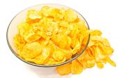 Crispy potato chips closeup — Stock Photo