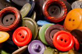 Texture of some colorful buttons — Stock Photo