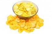 Different potato chips — Stock Photo