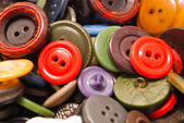 Texture of different colored buttons closeup — Stock Photo