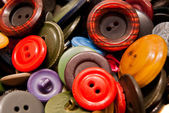 Texture of many colorful buttons — Stock Photo