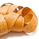 Orange measuring tape for needlework — Stock Photo #66015551