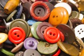 Texture of various colored buttons — Stock Photo