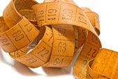 Orange measuring tape — Zdjęcie stockowe