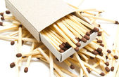 Some matches and matchbox — Stock Photo