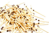 Heap of matches on white — Стоковое фото