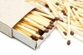 Matchbox and matches — Stock Photo