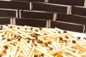 Matches and many matchbox — Stock Photo