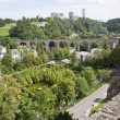 Old town and Kirchberg district in the City of Luxembourg — Stock Photo #59229991
