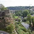 Medieval fortifications in Luxembourg — Stock Photo #59231205