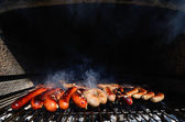 Sausage grill — Stock Photo