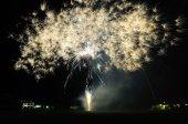 Giant beautiful fireworks — Stock Photo