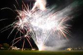 Huge bright fireworks — Stock Photo