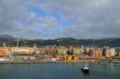 Colorful harbor in La Spezia — Stock Photo