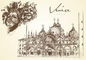 Hand drawn Venice — Stock Vector