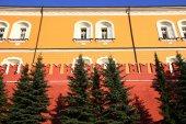 Detail of the Kremlin wall — Stockfoto