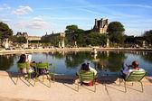 Tuileries Gardens in Paris. — Stock Photo