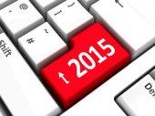 Computer keyboard 2015 — Stock Photo
