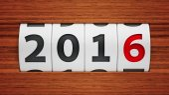New year 2016 counter — Stock Photo
