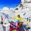 Ski, winter, snow - family enjoying winter vacation — Stock Photo #68562951