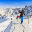 Freeriders, Aiguille du Midi, French Alps — Stock Photo #68563387