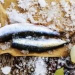 Fresh fish herring fillet — Stock Photo #68566359