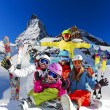 Ski, winter, snow - family enjoying winter vacation — Stock Photo #68569761