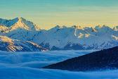 Thyon 4 vales, Alpes suíços - nascer do sol — Fotografia Stock