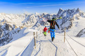 Freeriders, Aiguille du Midi, French Alps — Stock Photo