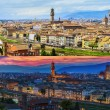 Florence city panorama during the day and at sunset. Panoramic view — Stock Photo #68570723