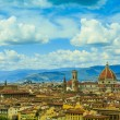 Florence, Italy - view of the city and Cathedral Santa Maria del — Stock Photo #70811263