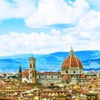 Florence, Italy - view of the city and Cathedral Santa Maria del — Stock Photo #70811475